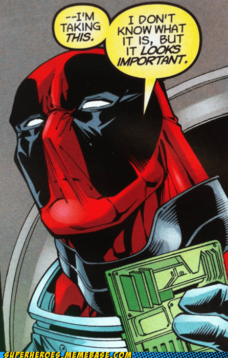 And, Deadpool Knows Important!