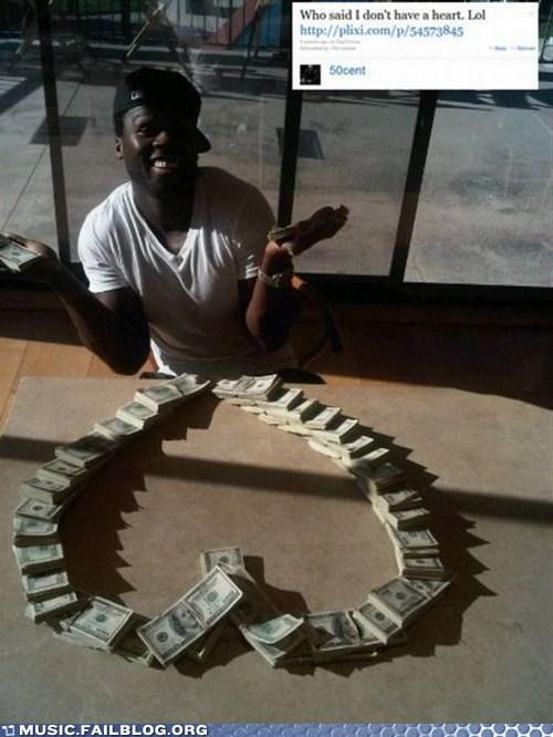 50 cent,heart,hip hop,rap,twitter