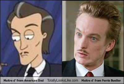 Maitre d' from American Dad Totally Looks Like Maitre d' from Ferris Bueller
