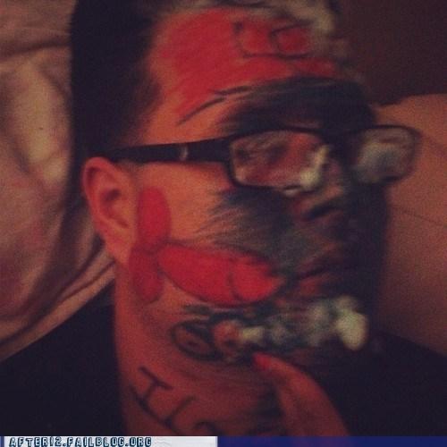 Protip: That Isn't an A-Bomb Drawn on His Cheek