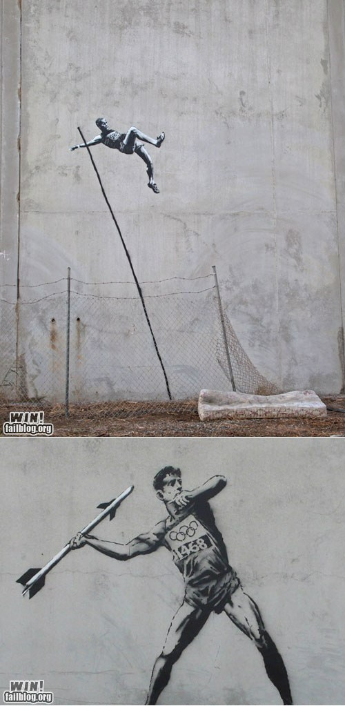 Hacked IRL: Banksy Clearing the Olympics