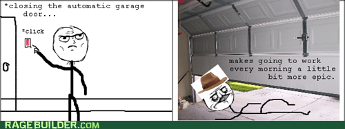 Rage Comics: Indiana Jones and the Garage Door of Doom