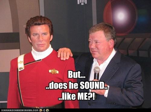 Captain Kirk,pausing,Shatnerday,sound,stand,Star Trek,William Shatner