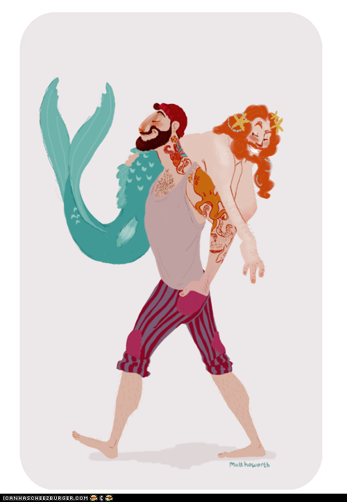 Merman and Sailor