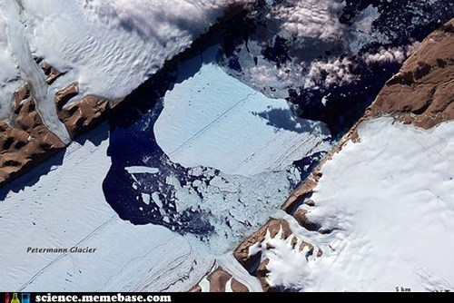 Calving of Petermann Glacier