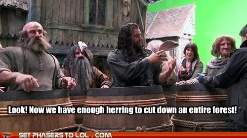 dwarves,Forest,herring,monty python and the holy,monty python and the holy grail,The Hobbit,the knights who say ni