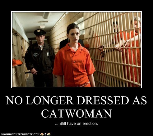 NO LONGER DRESSED AS CATWOMAN