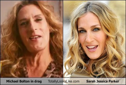 Michael Bolton in Drag Totally Looks Like Sarah Jessica Parker