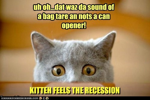 uh oh...dat waz da sound of a bag tare an nots a can opener!