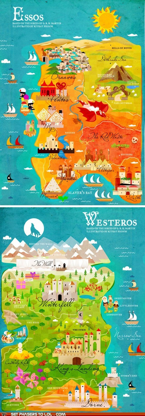 Awesome Fan-Made Maps of Westeros and Essos