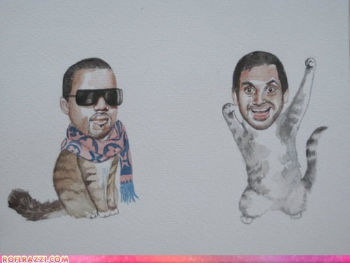 art,aziz ansari,celeb,cool,funny,kanye west,Music,rap