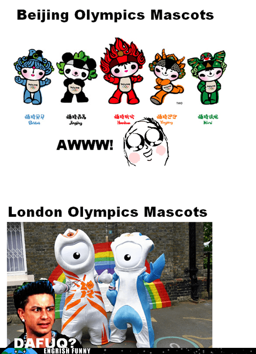 Engrish Funny: Seriously London, Hire a New Mascot Designer Guy Next Time