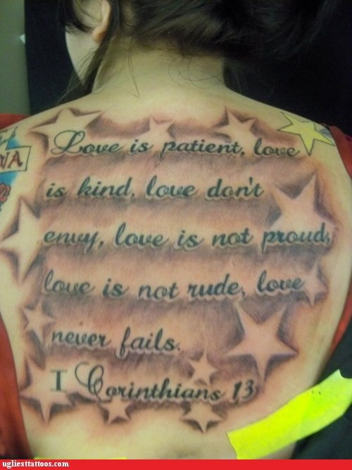 Love Doesn't Fail, But Your Tattoo Does