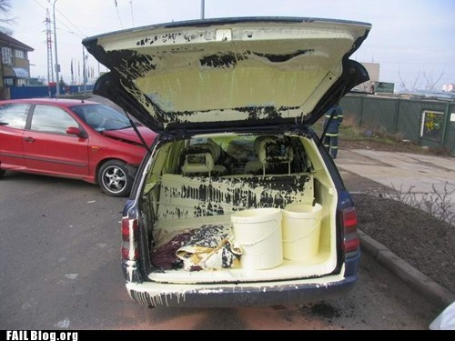 FAIL Nation: Transporting Paint FAIL