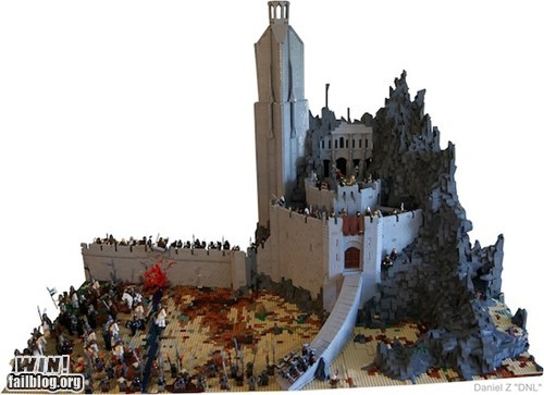 epic,helms-deep,lego,Lord of the Rings,model,nerdgasm