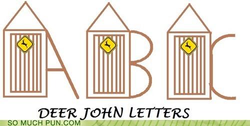 colloquialism,dear john letter,deer,double meaning,johns,letters,literalism,slang