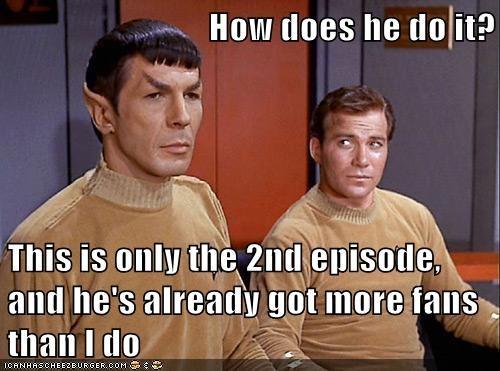 Captain Kirk,fans,jealous,Leonard Nimoy,Shatnerday,Spock,William Shatner