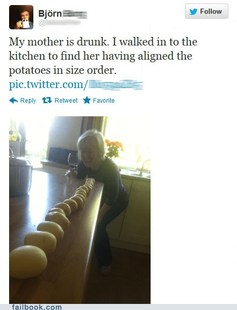 Failbook: A Sudden Bout of Alcohol Induced OCD Funny Picture