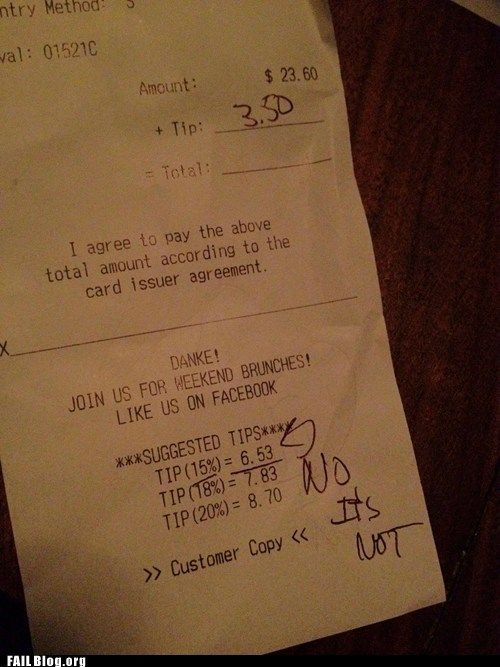 Suggested Tip FAIL