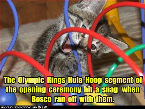 captions,Cats,London 2012,olympics,opening ceremony,rings
