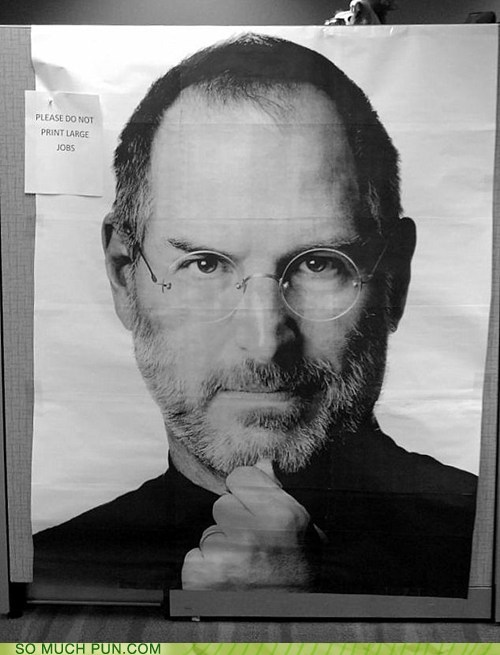 double meaning,Hall of Fame,jobs,large jobs,literalism,print job,steve jobs