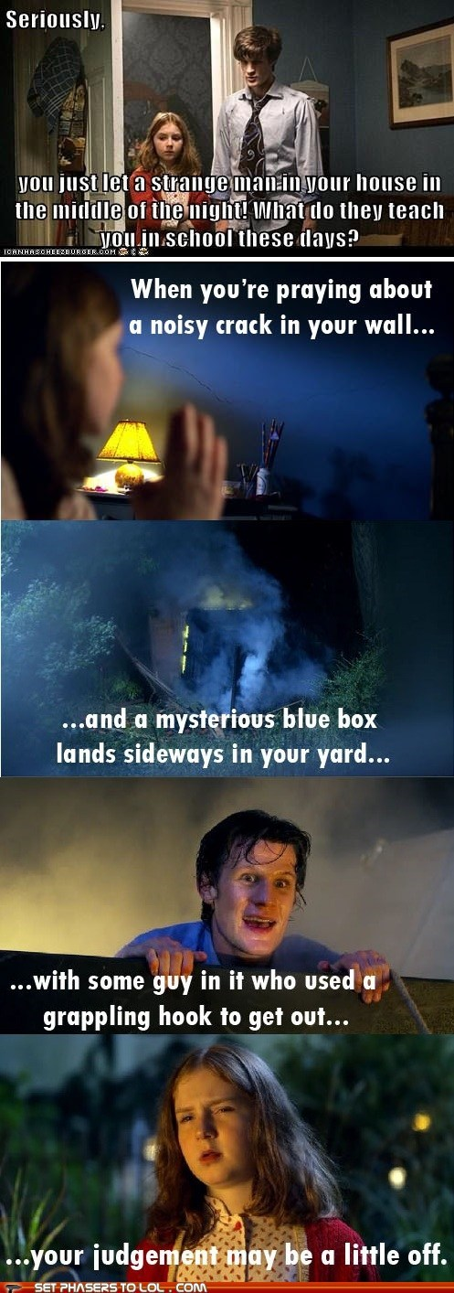 amy pond,judgement,Matt Smith,mysterious,response,seriously,the doctor