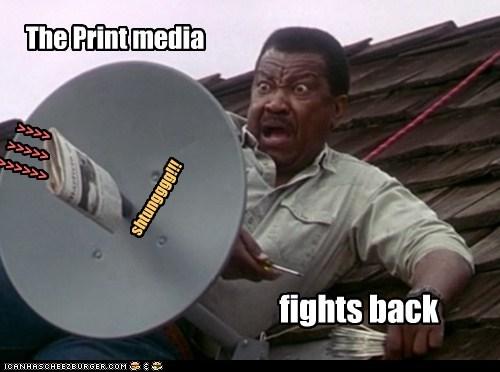 Interweb,newspaper,print media,satellite
