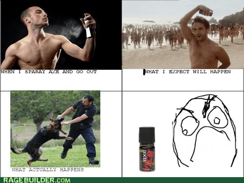 axe,body spray,expectations,Rage Comics