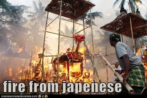fire from japenese