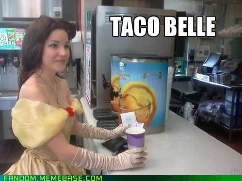 Beauty and the Beast,belle,disney,disney princesses,fandom,It Came From the,It Came From the Interwebz,puns,taco bell