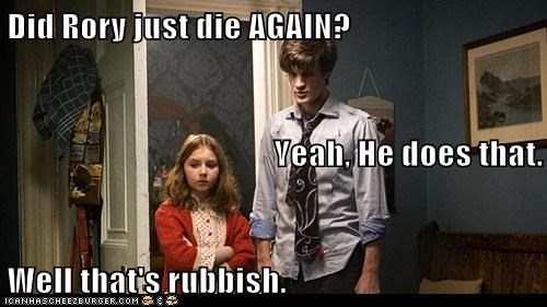 amy pond,doctor who,dying,habit,Matt Smith,rory,rubbish,the doctor