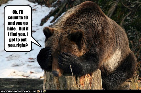 bear,counting,eat you,game,hide and seek,hunger games,hungry