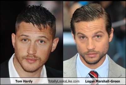 Tom Hardy Totally Looks Like Logan Marshall-Green