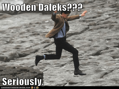 daleks,doctor who,Matt Smith,running,seriously,the doctor,wood
