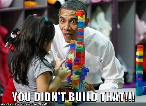 barack obama,building,derp,kid,legos,overzealous,you-didnt-build-that