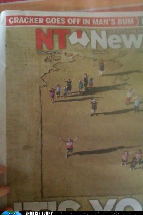 australia,firecracker,headlines,newspaper