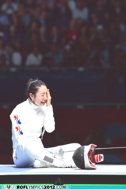 South Korean Fencer Refuses to Leave the Piste