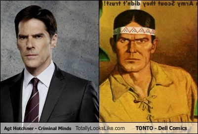 Thomas Gibson (Agent Hotchner, Criminal Minds) Totally Looks Like Tonto (Dell Comics)