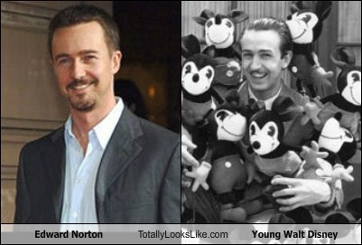 Edward Norton Totally Looks Like Young Walt Disney