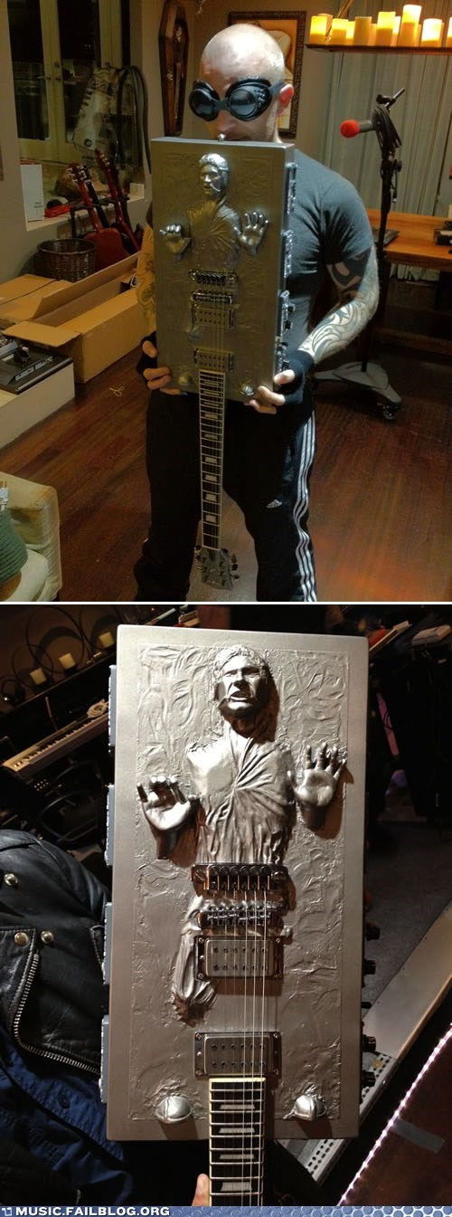 Music FAILS: Han Solo Trapped in Guitarbonite