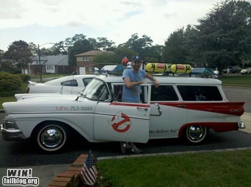 80s,car,custom,DIY,driving,Ghostbusters