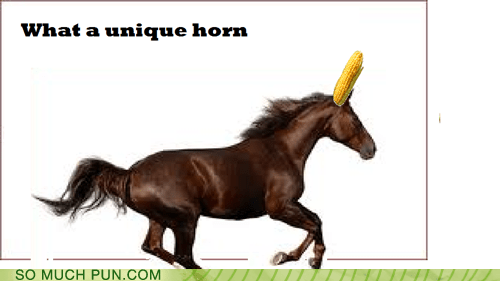 corn,horn,similar sounding,unicorn,unique