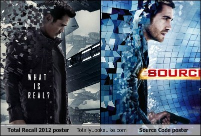 Total Recall 2012 Poster Totally Looks Like Source Code Poster