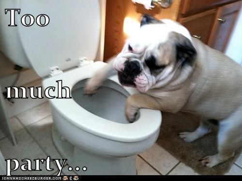 Too much party...