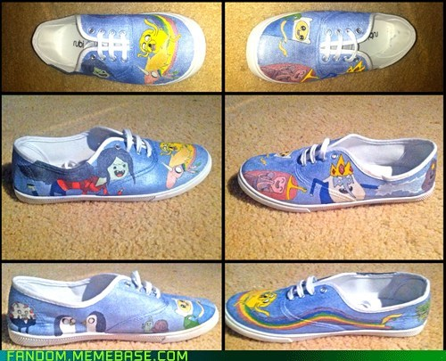 Not good at this... Adventure Time Shoes? ><