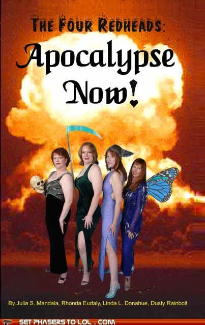 WTF Sci-Fi Book Covers: The Four Redheads: Apocalypse Now!