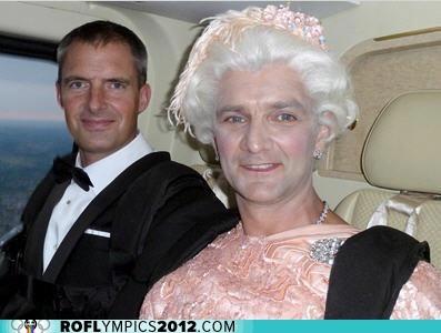helicopter,james hance,London 2012,olympics,opening ceremony,queen,queen elizabeth