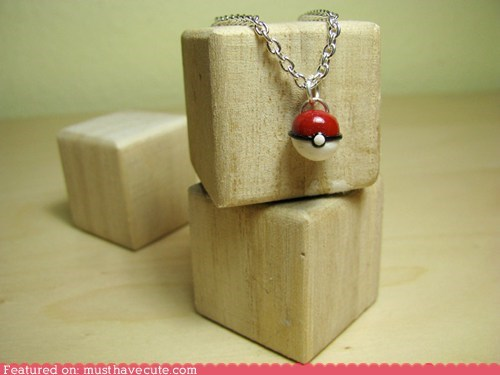 Tiny Poké Ball Necklace