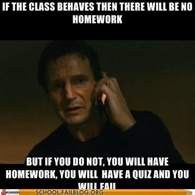 homework,liam neeson,quiz,taken