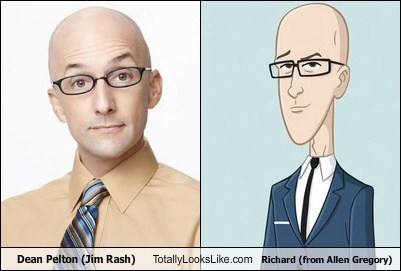 Dean Pelton (Jim Rash) Totally Looks Like Richard (from Allen Gregory)